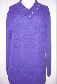 Nicole Lewis 4 Button Collar Jumper - Purple