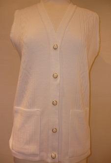 Nicole Lewis Waistcoat with pockets - White