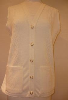 Nicole Lewis Waistcoat with pockets - Cream