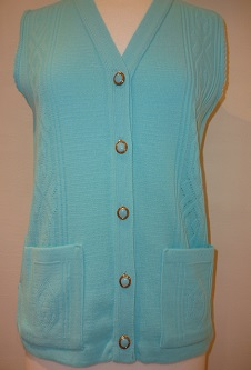 Nicole Lewis Waistcoat with pockets - Aqua