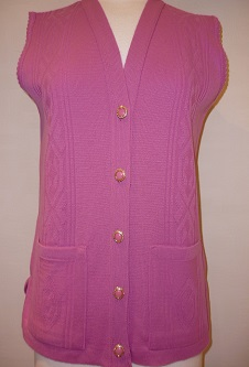 Nicole Lewis Waistcoat with pockets - Pink