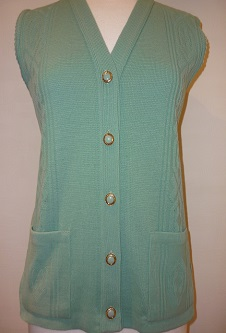 Nicole Lewis Waistcoat with pockets - Green