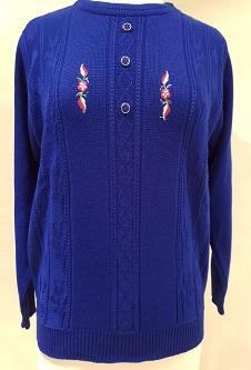 Nicole Lewis Embroidered Jumper IV - Royal Blue