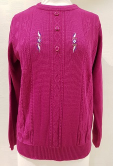Nicole Lewis Embroidered Jumper IV - Cerise