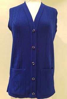 Nicole Lewis Waistcoat with pockets - Royal Blue