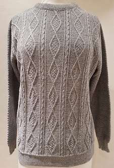 Nicole Lewis Cable Knit Jumper II - Grey