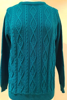 Nicole Lewis Cable Knit Jumper II - Teal