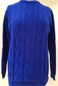 Nicole Lewis Cable Knit Jumper II - Royal Blue