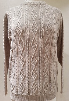 Nicole Lewis Cable Knit Jumper II - Oatmeal