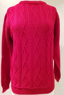 Nicole Lewis Cable Knit Jumper II - Red