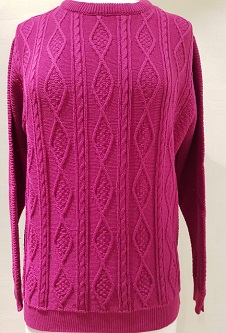 Nicole Lewis Cable Knit Jumper II - Cerise