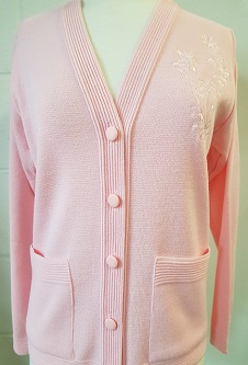 Nicole Lewis Embroidered Cardigan - Soft Pink