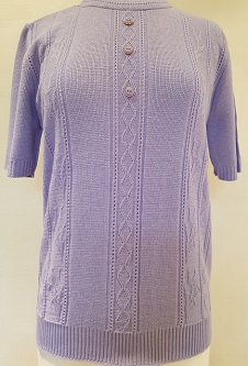 Nicole Lewis Short Sleeve Roundneck Jumper - Lilac