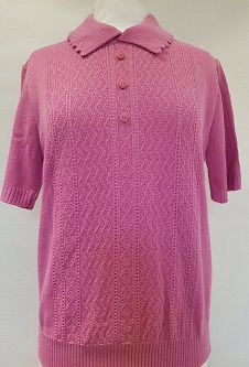 Nicole Lewis Short Sleeve Collar Jumper - Pink