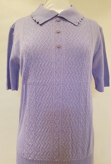 Nicole Lewis Short Sleeve Collar Jumper - Lilac