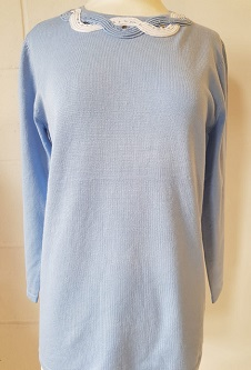 Nicole Lewis Spring Jumper Detailed Round Neck - Powder Blue