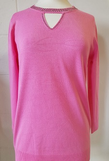 Nicole Lewis Spring Jumper Cut Out Neck Detail - Pink