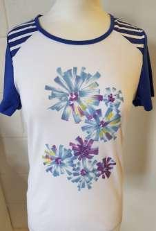 Nicole Lewis Round Neck Flower Print Tshirt - Navy