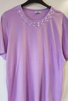 Nicole Lewis Plus Sized Tshirt w/Neck Detail 2 - Lilac
