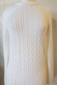 Nicole Lewis Cable Jumper Round Neck - White