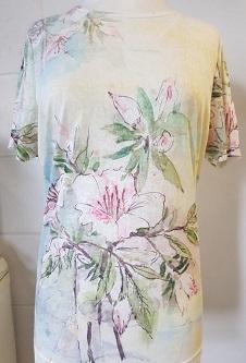 Nicole Lewis Poly/Elastane Stretch Fabric T-Shirt - Soft Green