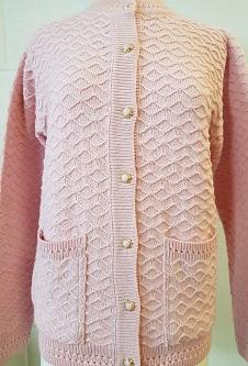Nicole Lewis Honeycomb Design Cardigan - Pale Pink