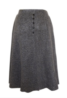 Tweed Button Skirt - Grey