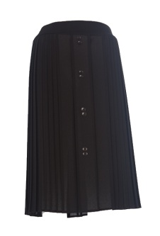 Nicole Lewis Pleated Skirt - Black