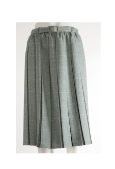 Nicole Lewis Box Pleat Skirt - Aqua Green