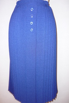 Nicole Lewis Pleated Mock Button Skirt - Royal Blue