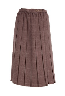 Nicole Lewis Box Pleat Skirt Heather