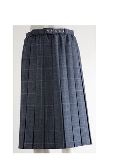 Nicole Lewis Box Pleat Skirt Denim Blue