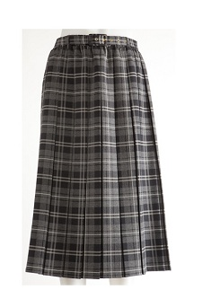 Nicole Lewis Box Pleat Skirt Black & White