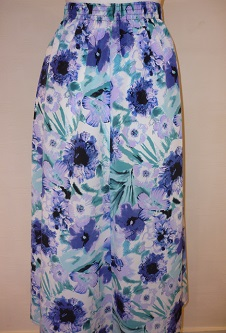 NicoleLewis Panel Skirt - Navy/Lilac/Aqua