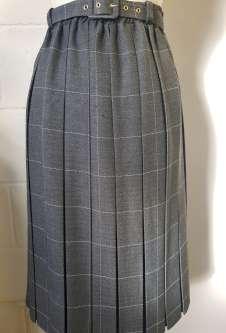 Nicole Lewis Box Pleat Skirt - Mid Grey