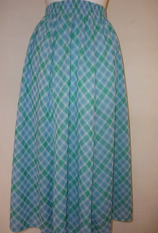 Nicole Lewis Panel Skirt - Mint/Aqua