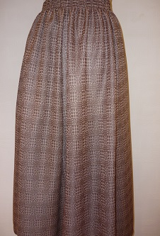 Nicole Lewis Panel Skirt - Brown Tweed