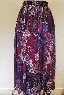 Nicole Lewis Paisley Skirt - Burgandy/Purple/Lilac