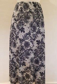 Nicole Lewis Panel Skirt IV - Grey Floral