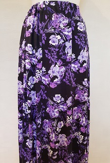 Nicole Lewis 8 Panel Stretch Skirt - Lilac/Purple