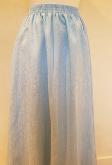 Nicole Lewis Elasticated Panel Skirt - Sky Blue