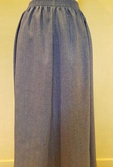 Nicole Lewis Elasticated Panel Skirt - Airforce Blue