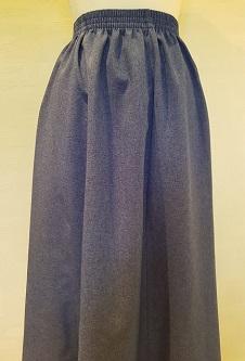 Nicole Lewis Elasticated Panel Skirt - Denim Blue