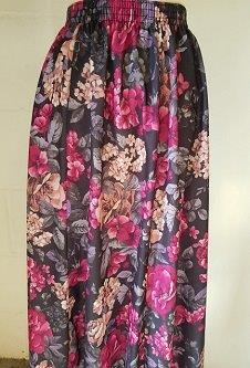 Nicole Lewis Elasticated Waist Skirt - Multi Floral 2