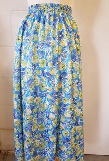 Nicole Lewis Panel Skirt - Turquoise Multi Floral