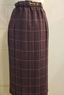 Nicole Lewis Box Pleat Skirt - Plum