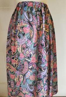 Nicole Lewis Elastic Waist Flared Skirt - Multi Paisley