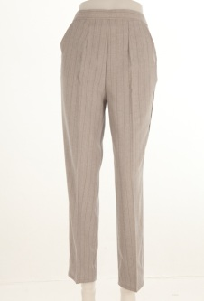 Nicole Lewis Striped Trousers - Silver Grey