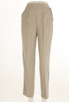 Nicole Lewis Striped Trousers - Light Green