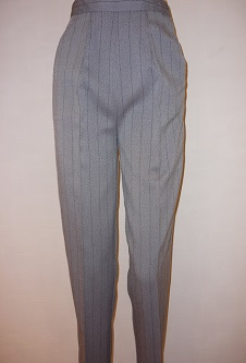 Nicole Lewis Herringbone Trousers - Silver Grey